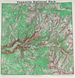 Yosemite Bandanna Map